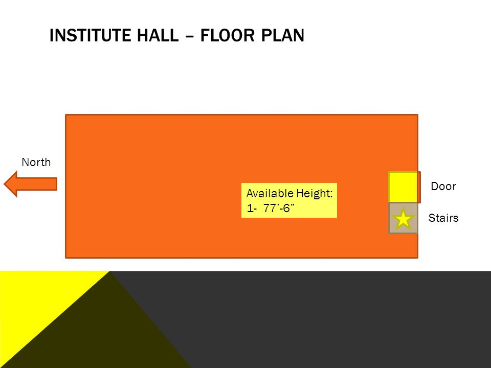 Institute hall – floor plan