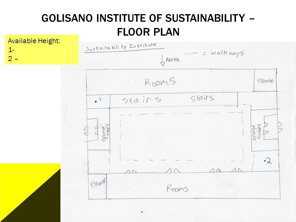 Golisano Institute of Sustainability – Floor plan