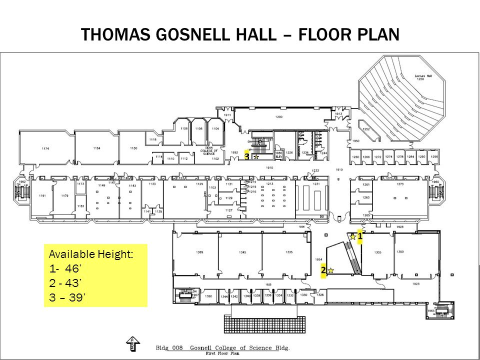 Thomas Gosnell Hall – Floor plan