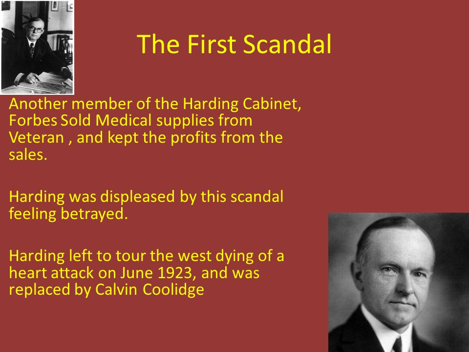 The First Scandal
