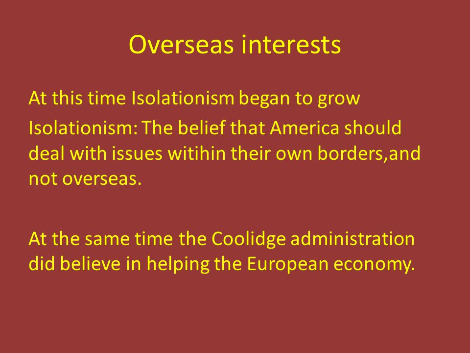 Overseas interests