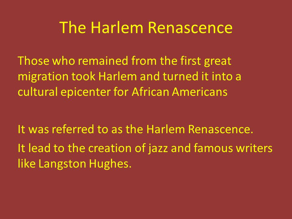 The Harlem Renascence