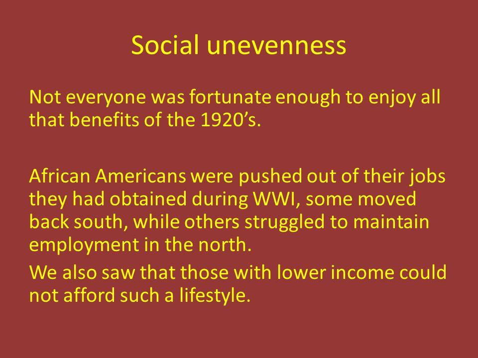 Social unevenness