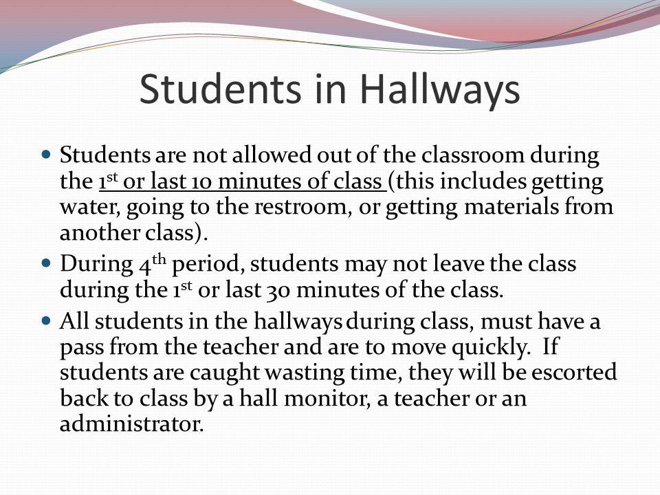 Students in Hallways