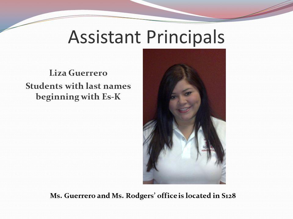 Assistant Principals Liza Guerrero