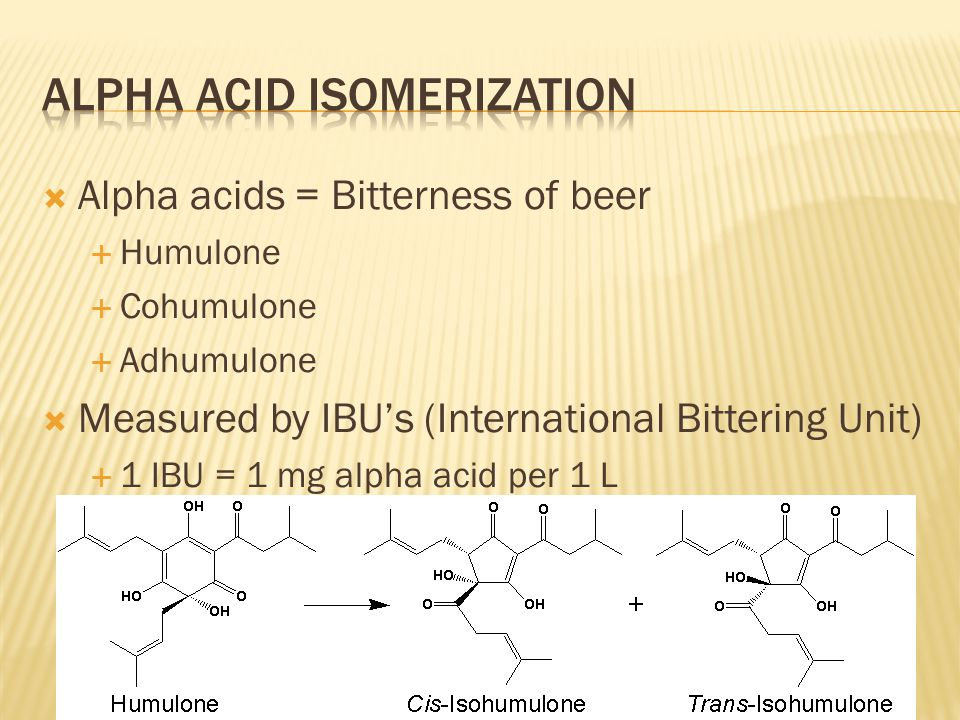 Alpha acid isomerization