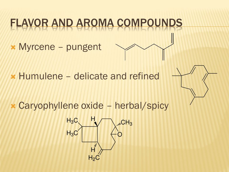 Flavor and aroma compounds