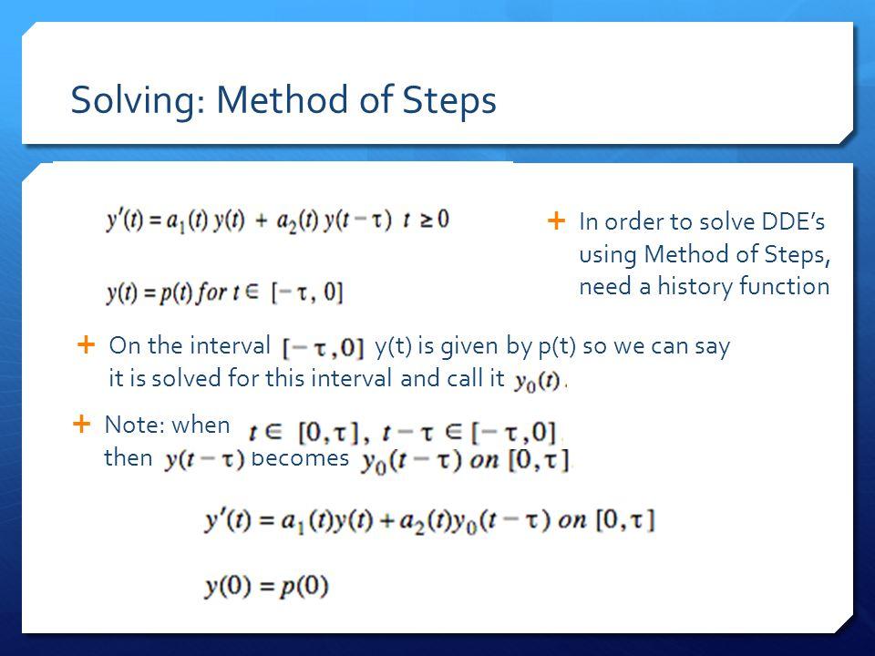 Solving: Method of Steps