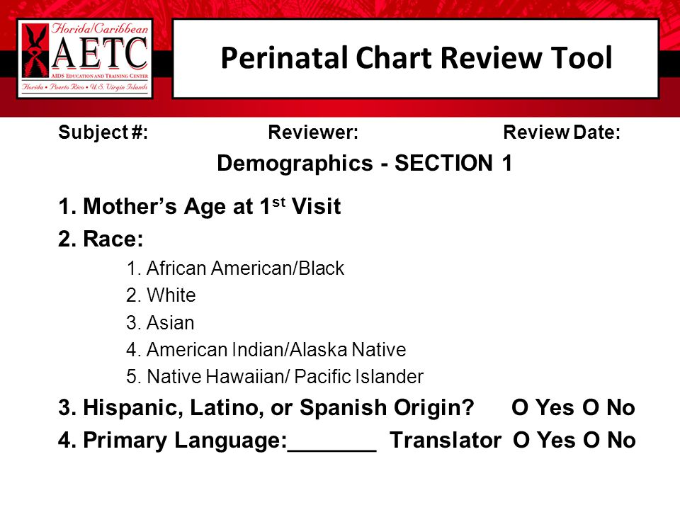 Perinatal Chart Review Tool