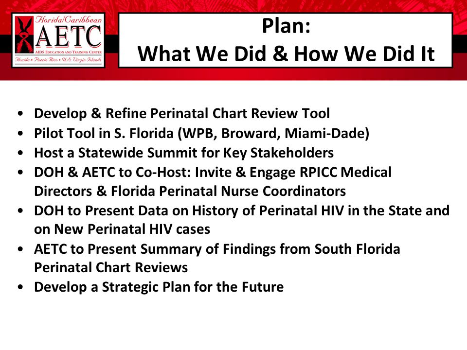 Plan: What We Did & How We Did It