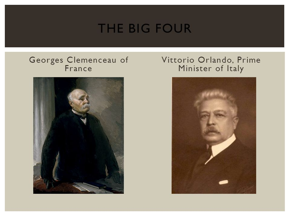 The Big Four Georges Clemenceau of France