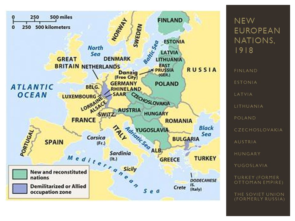 New European Nations, 1918 FINLAND ESTONIA LATVIA LITHUANIA POLAND