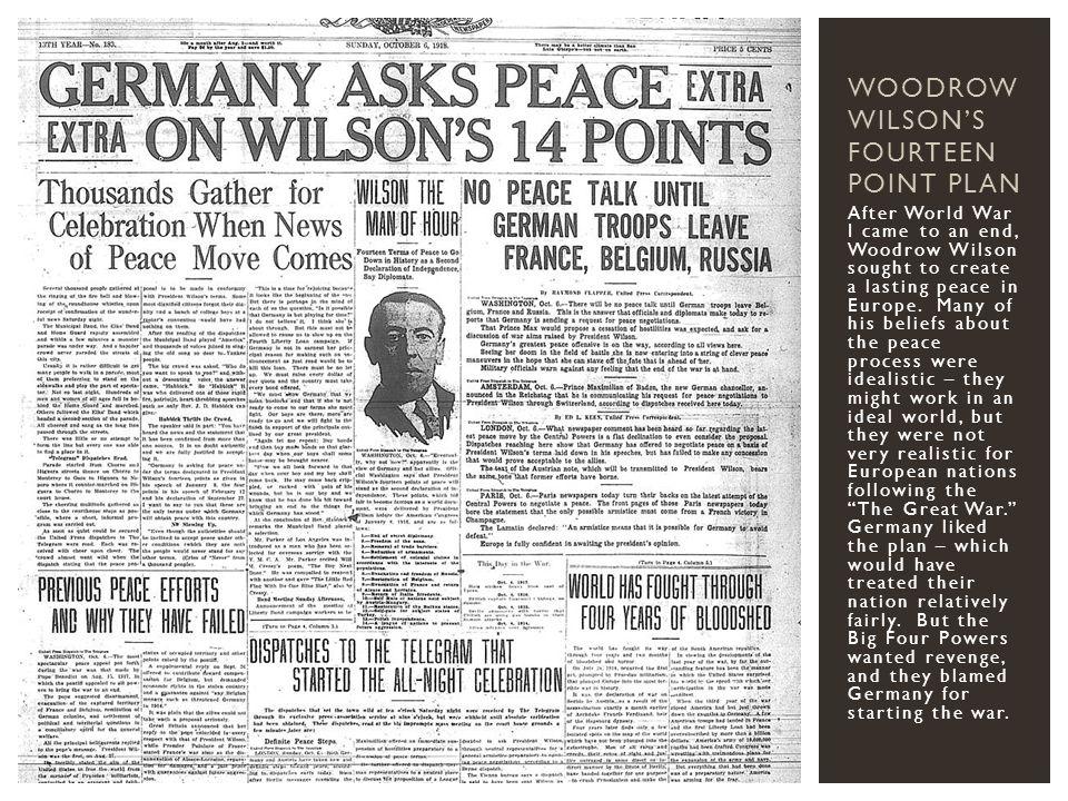 Woodrow Wilson's Fourteen Point Plan