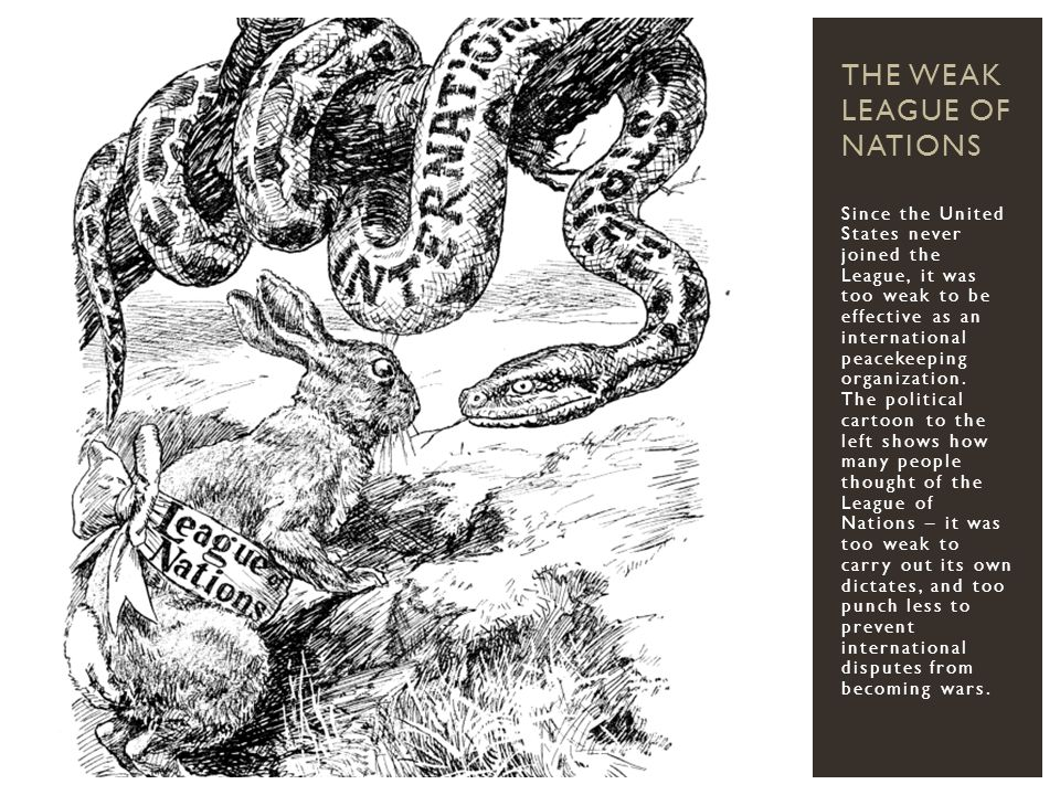 The Weak League of Nations