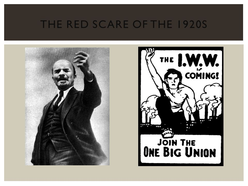 The Red Scare of the 1920s