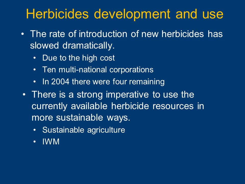 Herbicides development and use