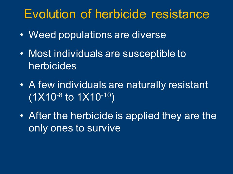 Evolution of herbicide resistance