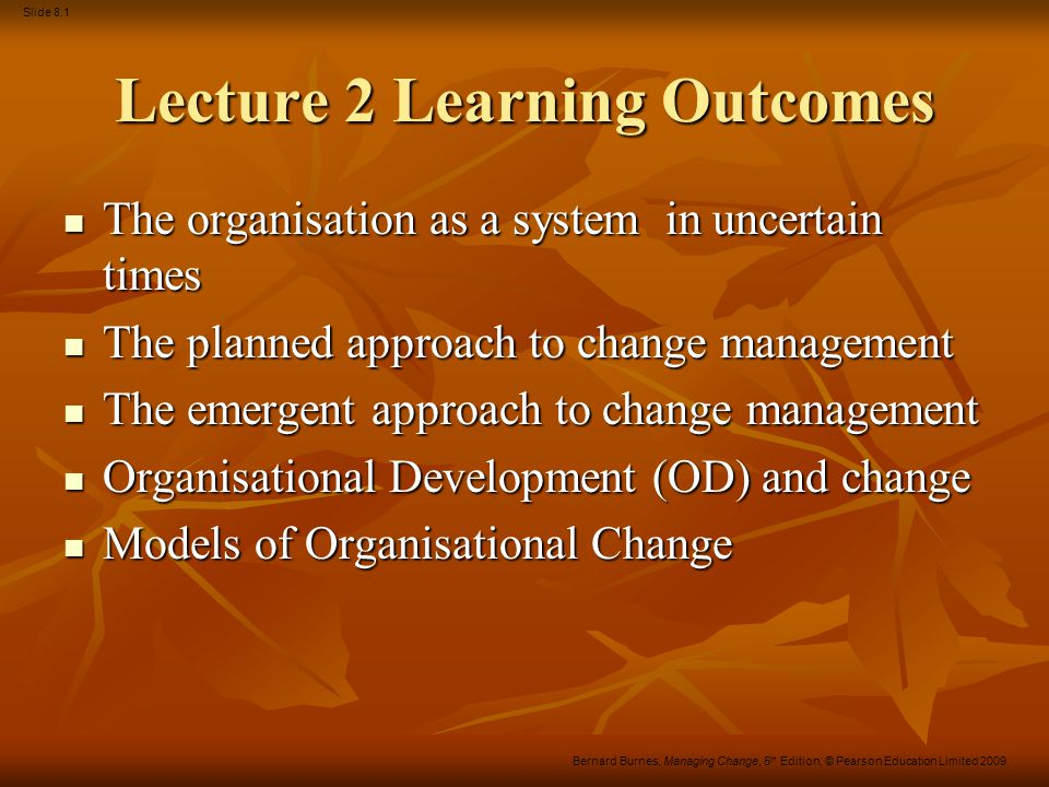 Lecture 2 Learning Outcomes
