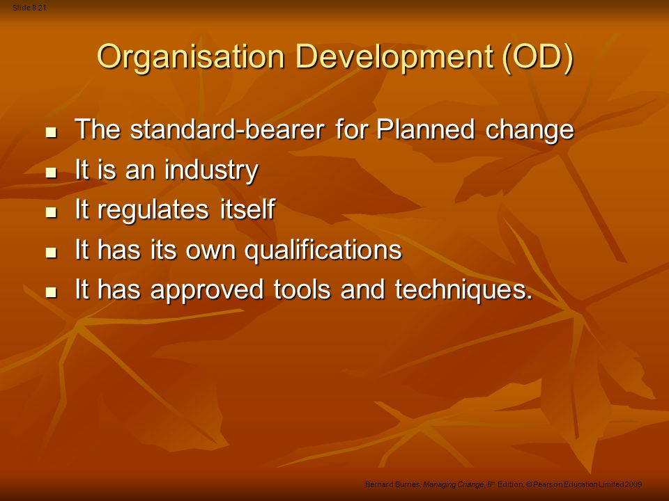 Organisation Development (OD)