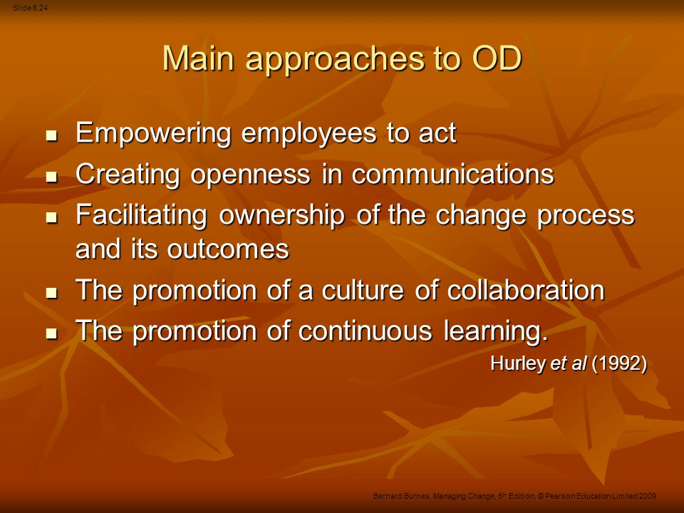 Main approaches to OD Empowering employees to act