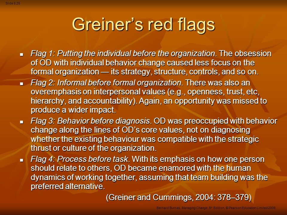 Greiner's red flags