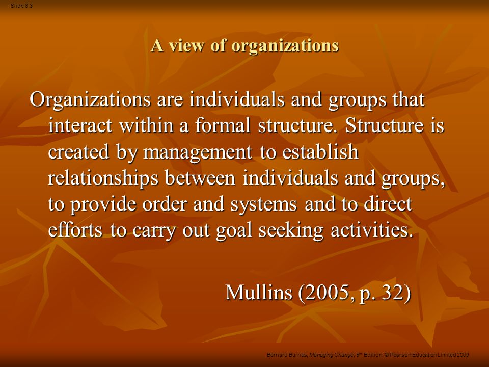 A view of organizations