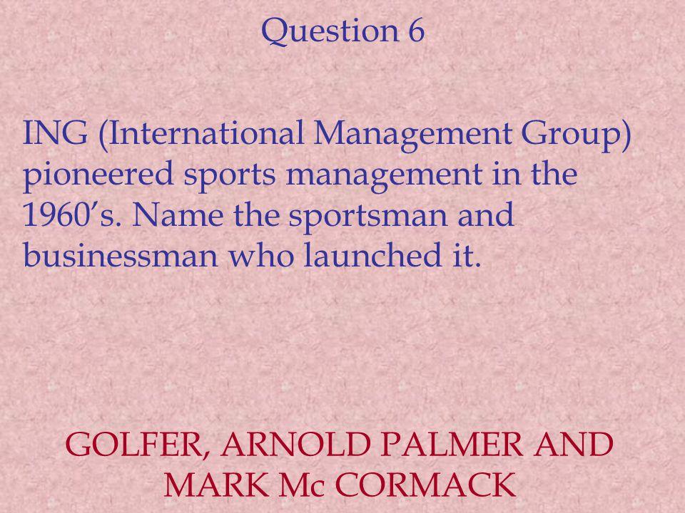 GOLFER, ARNOLD PALMER AND MARK Mc CORMACK