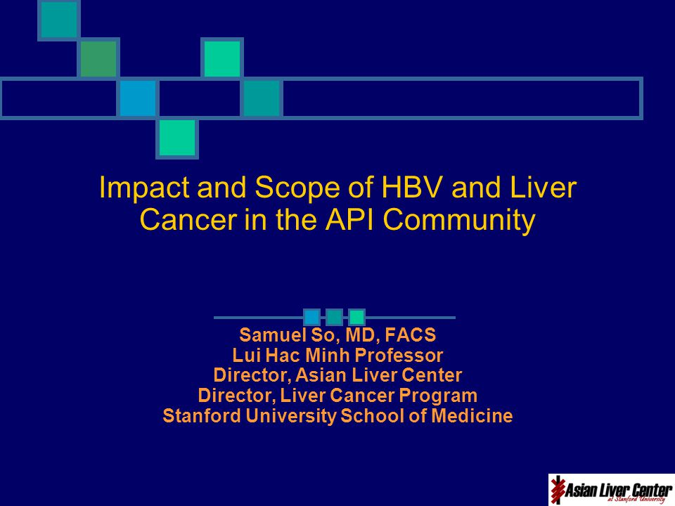 Impact and Scope of HBV and Liver Cancer in the API Community