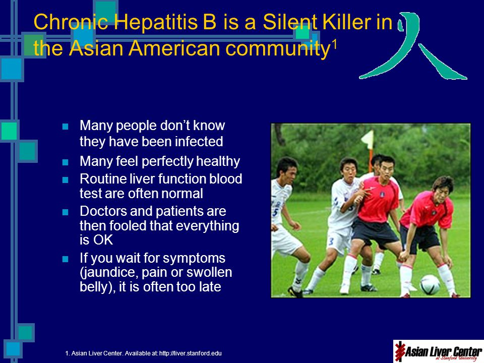 Chronic Hepatitis B is a Silent Killer in the Asian American community1