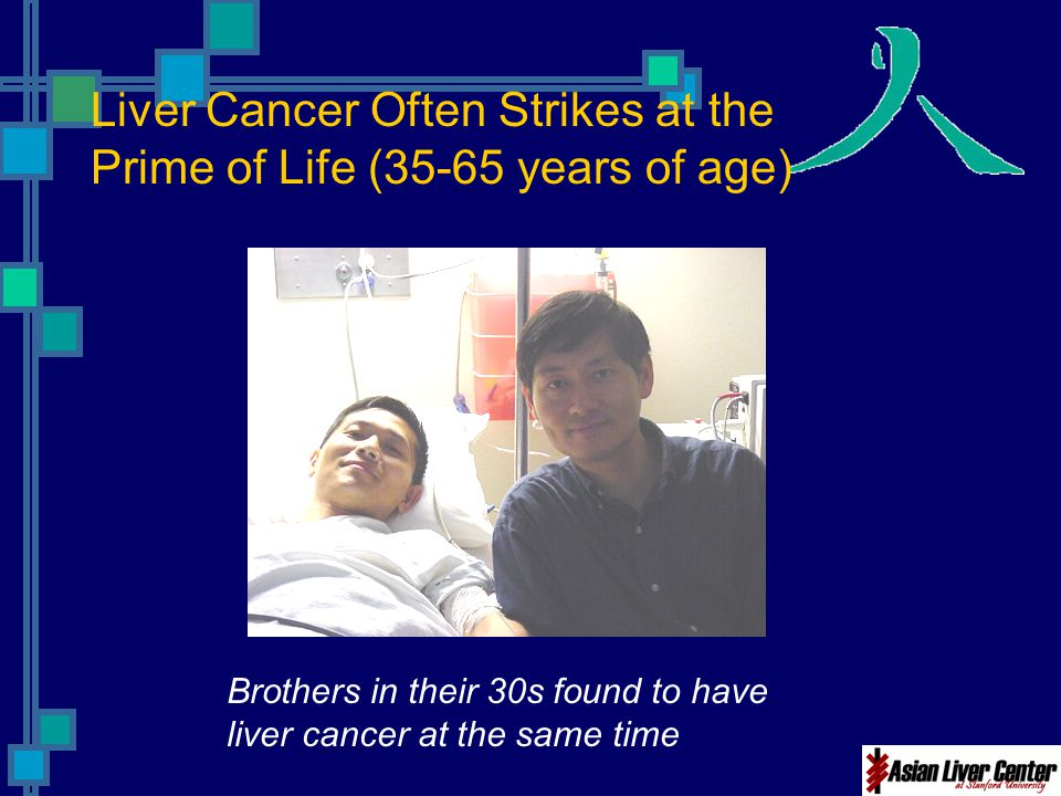 Liver Cancer Often Strikes at the Prime of Life (35-65 years of age)