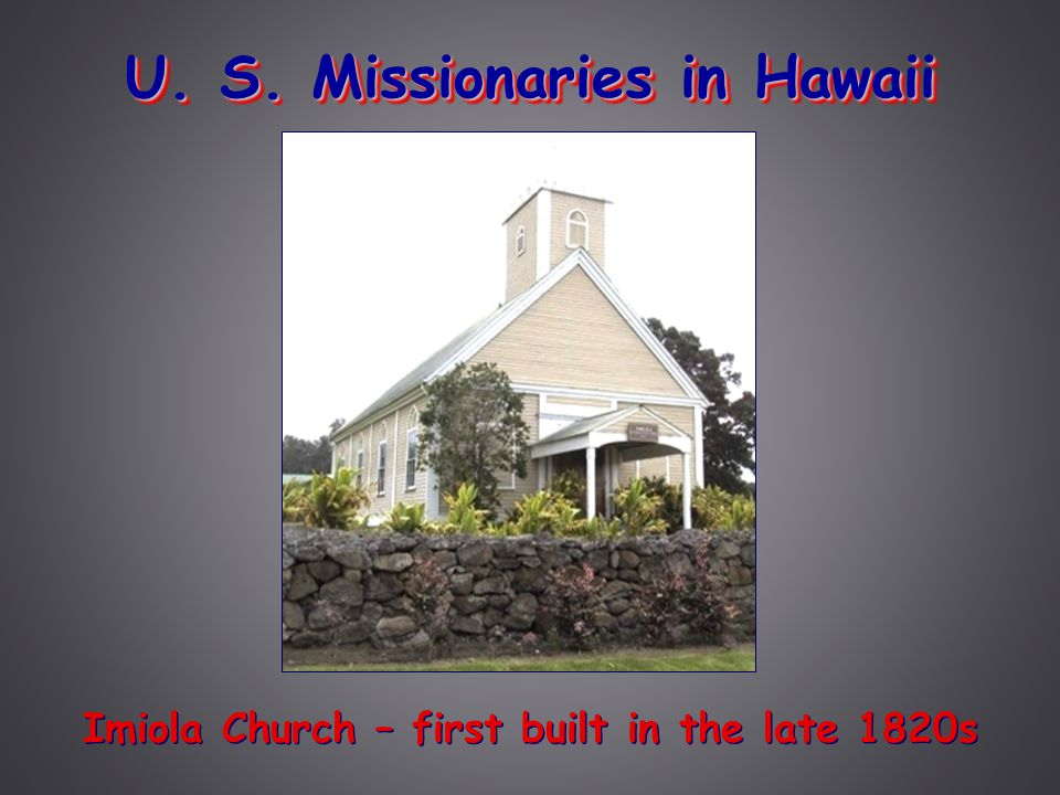 U. S. Missionaries in Hawaii