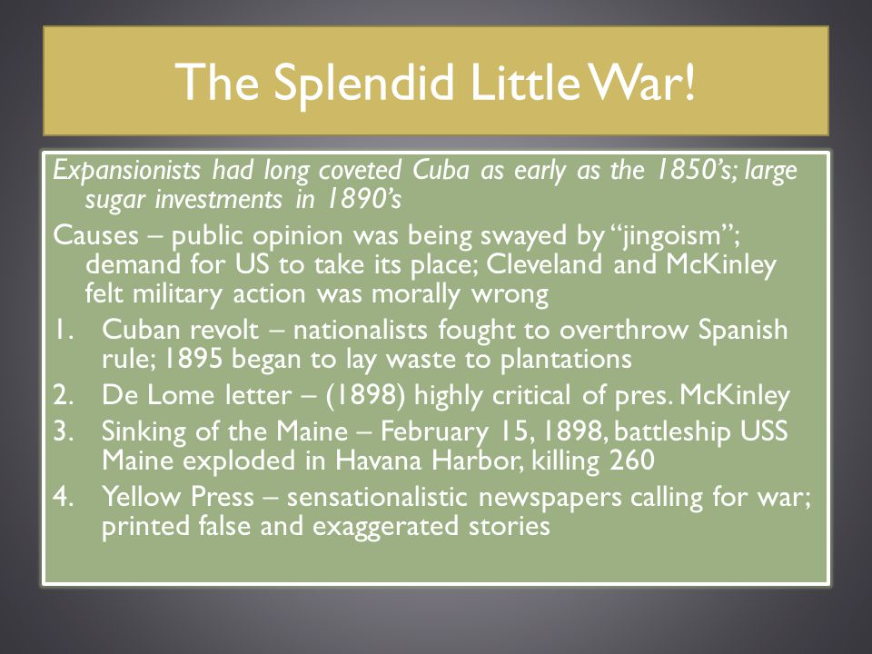 The Splendid Little War!