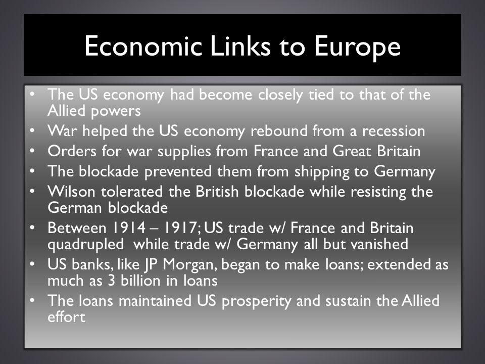 Economic Links to Europe