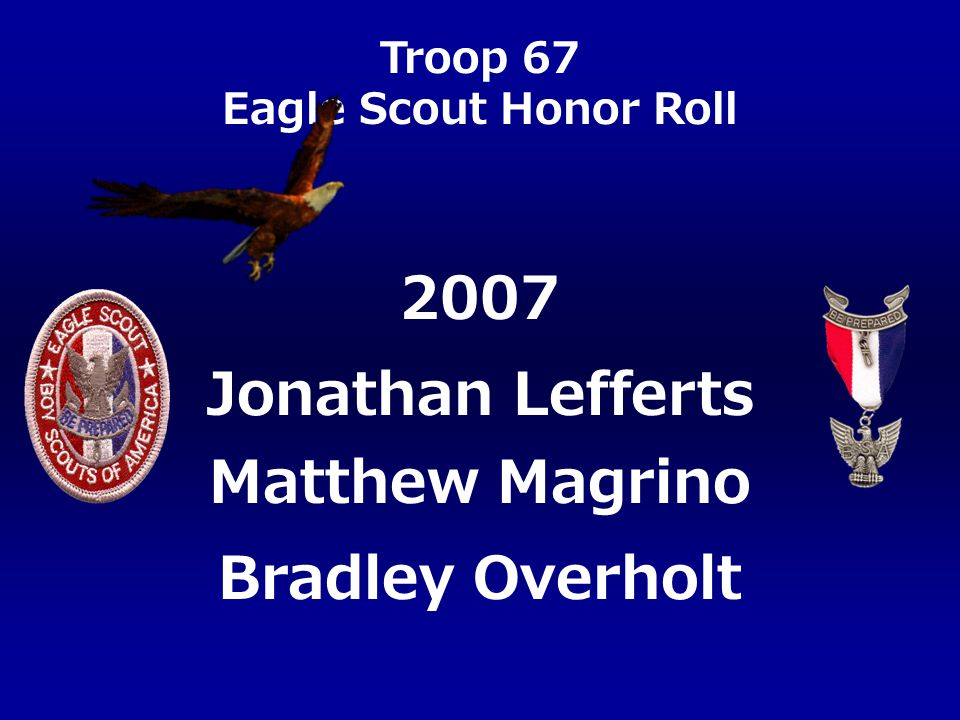 2007 Jonathan Lefferts Matthew Magrino Bradley Overholt