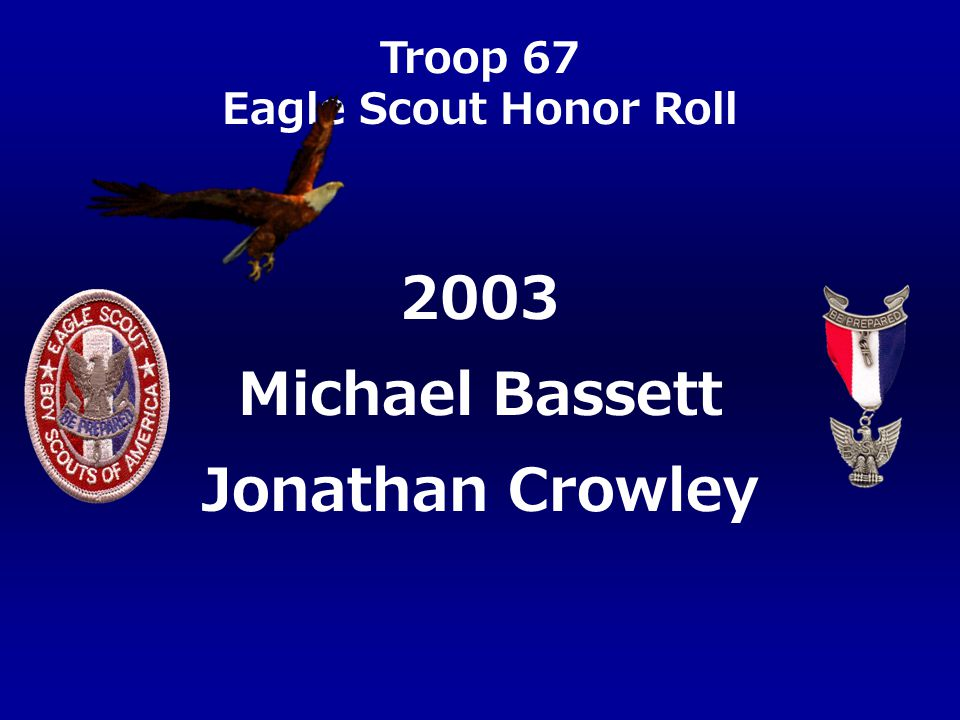 2003 Michael Bassett Jonathan Crowley