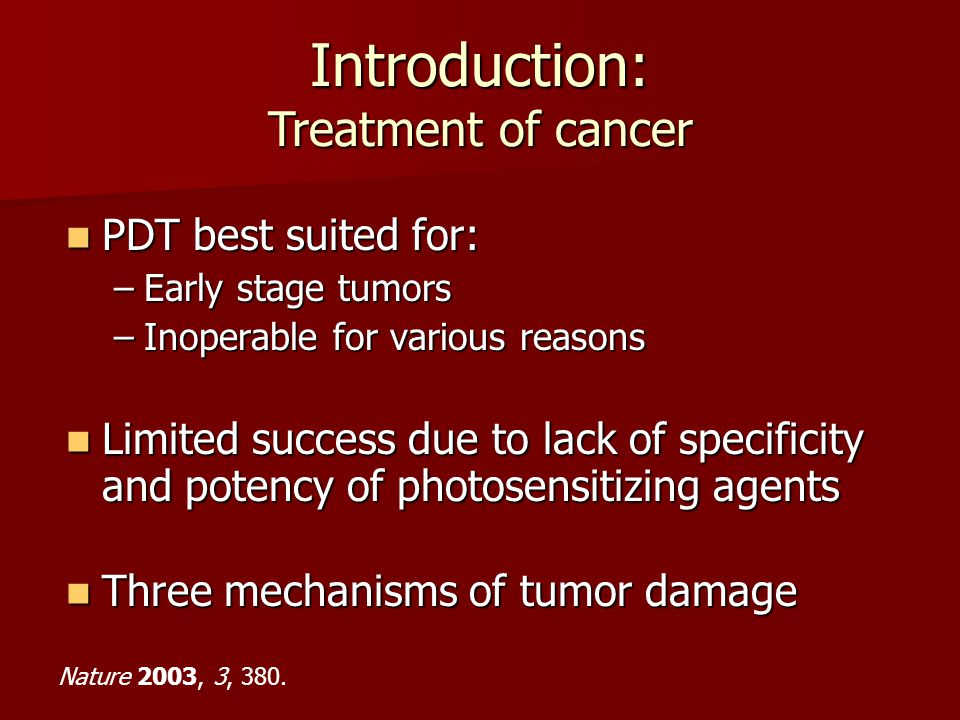 Introduction: Treatment of cancer