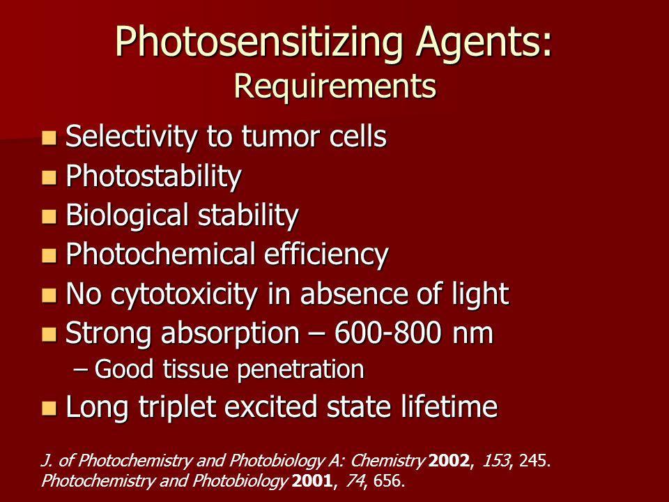Photosensitizing Agents: Requirements