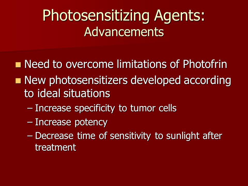 Photosensitizing Agents: Advancements