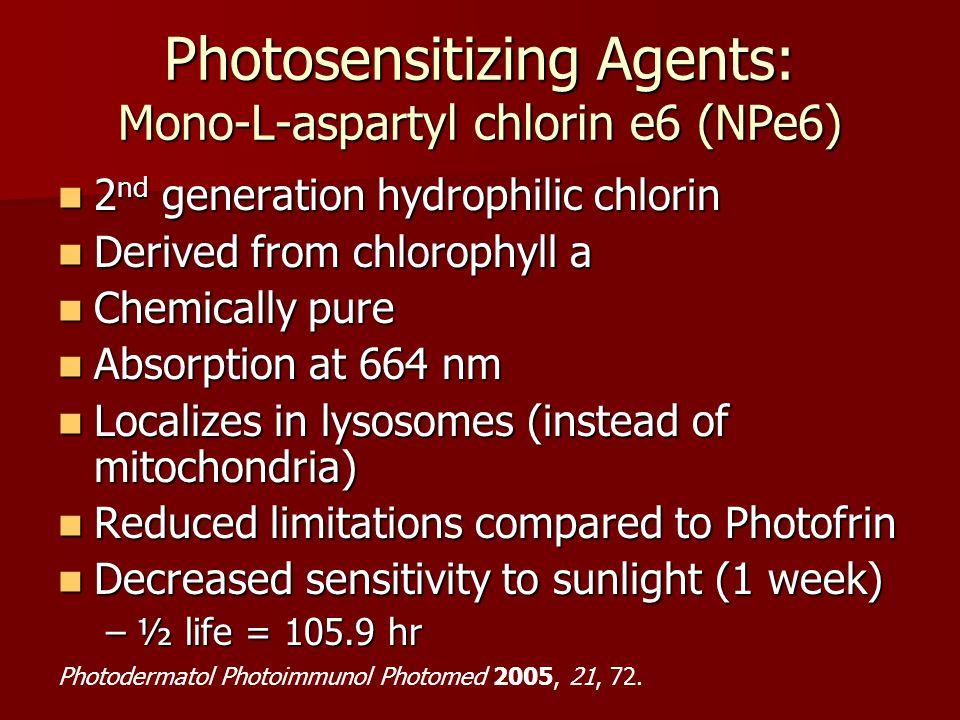 Photosensitizing Agents: Mono-L-aspartyl chlorin e6 (NPe6)