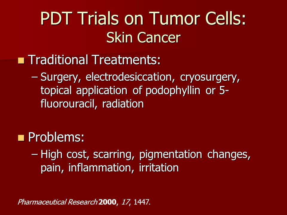 PDT Trials on Tumor Cells: Skin Cancer