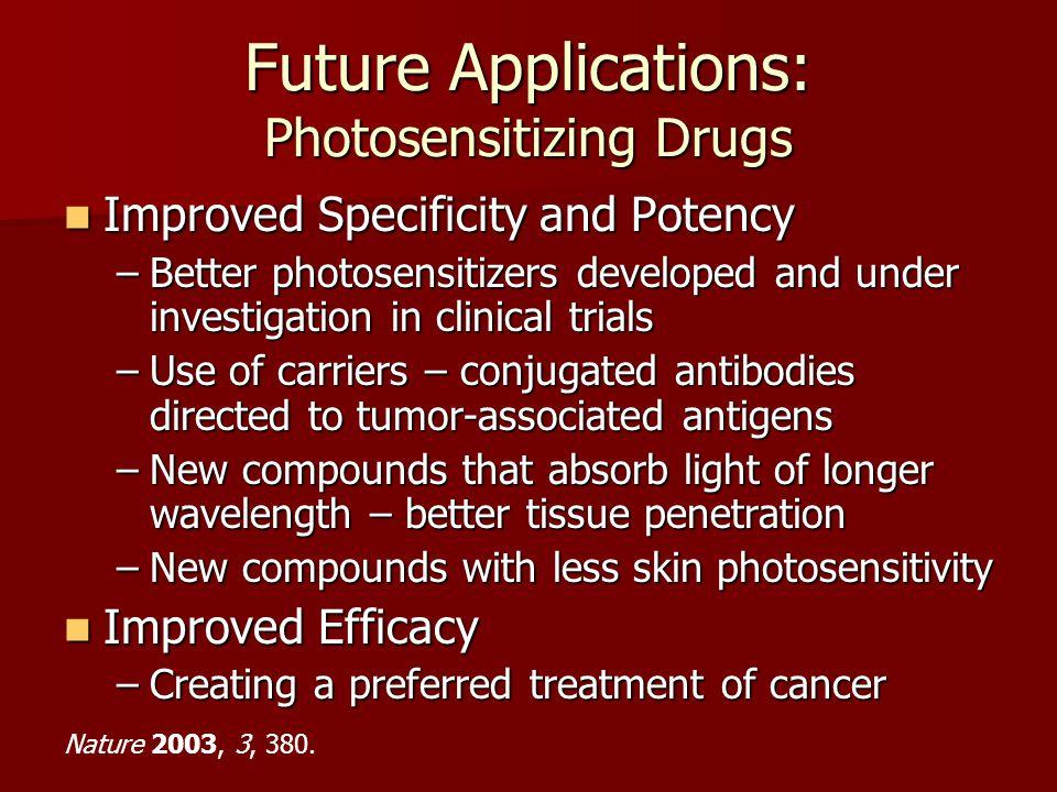 Future Applications: Photosensitizing Drugs