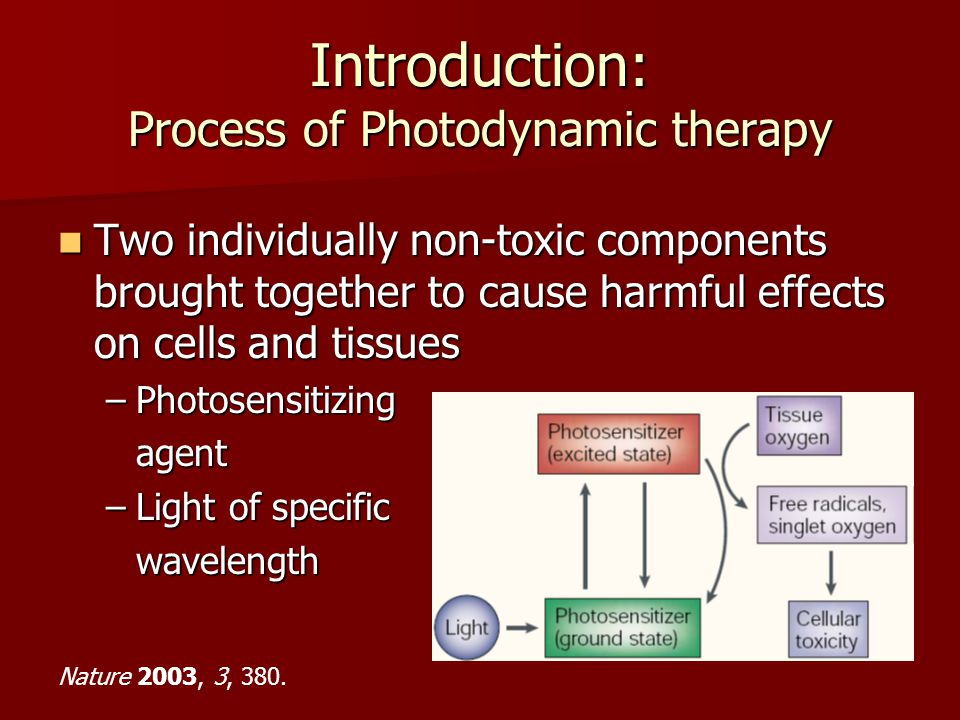 Introduction: Process of Photodynamic therapy