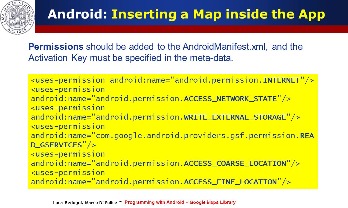 Android: Inserting a Map inside the App