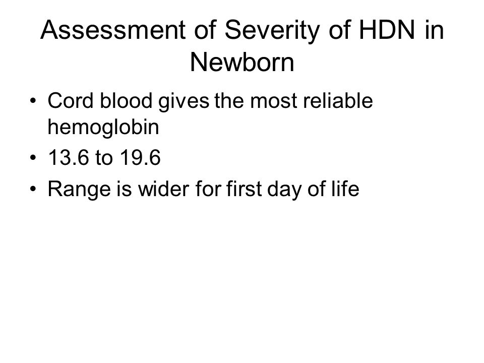 Assessment of Severity of HDN in Newborn