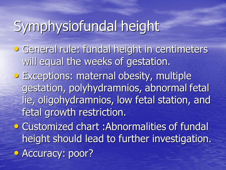Symphysiofundal height