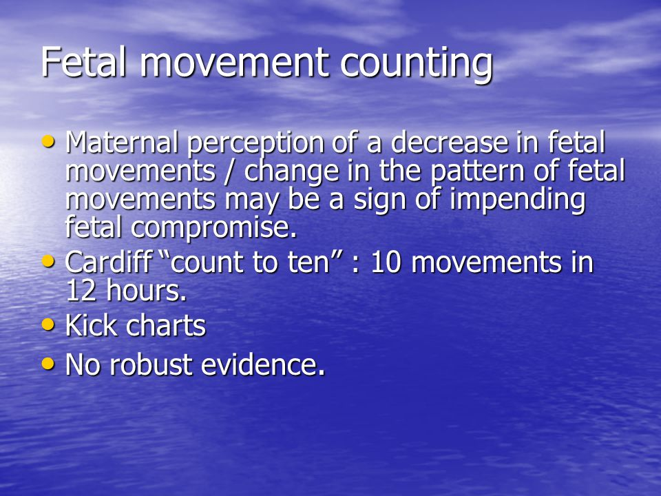 Fetal movement counting