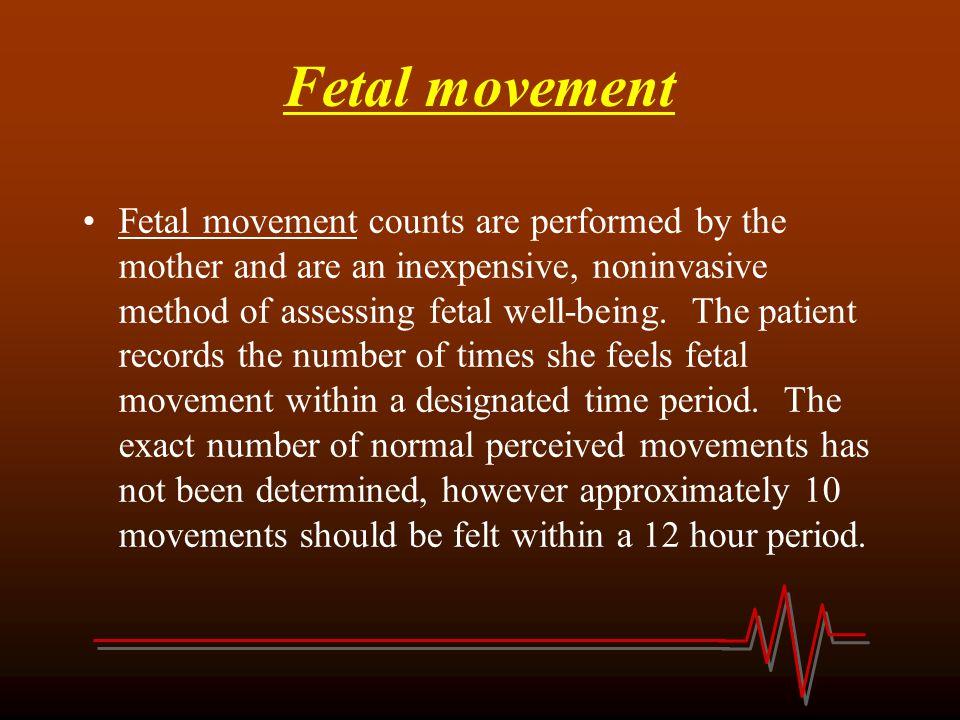 Fetal movement