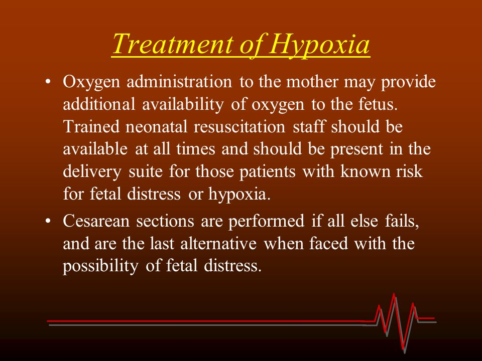 Treatment of Hypoxia