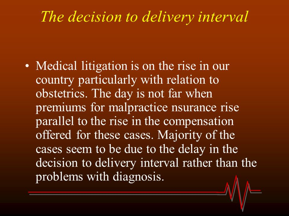 The decision to delivery interval
