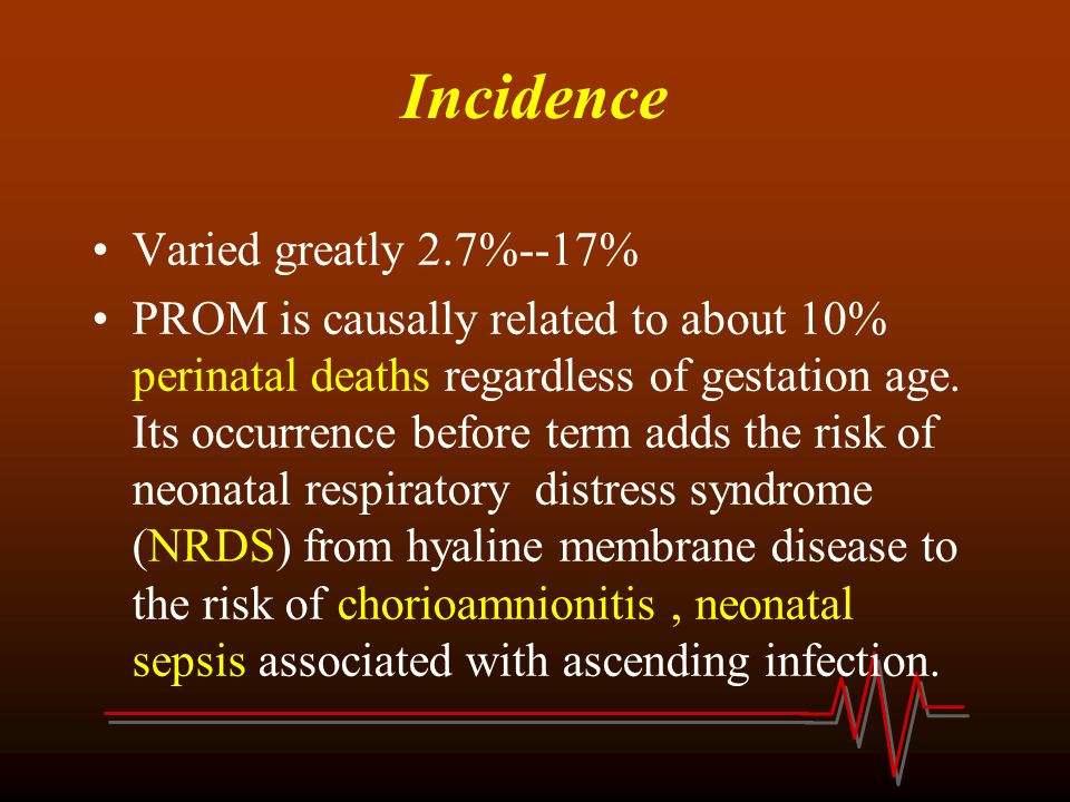 Incidence Varied greatly 2.7%--17%